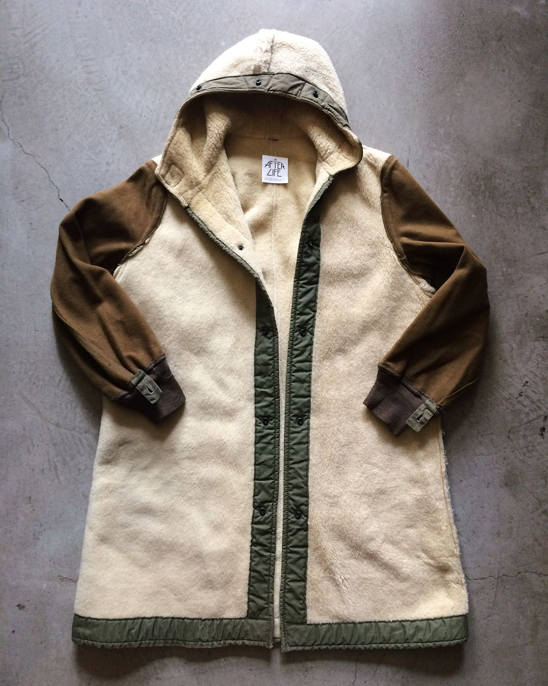 Vintage military shearling liner jacket, tagged size S