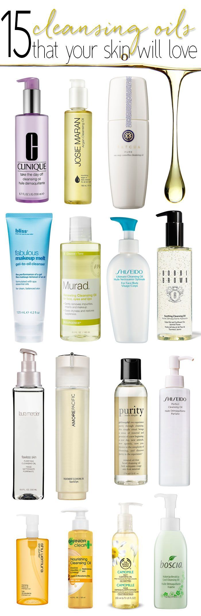 Cleansing Oils perfect for winter!  They easily remove even the most stubborn waterproof makeup but help my skin stay hydrated in the cold winter weather.15 Cleansing Oils perfect for winter!  They easily remove even the most stubborn waterproof makeup but help my skin stay hydrated in the cold winter weather.