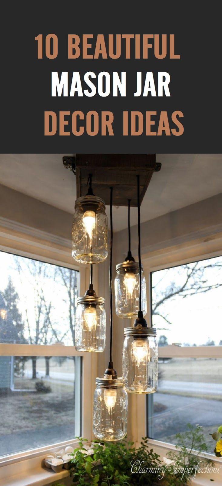 10 Beautiful Mason Jar Decor Ideas