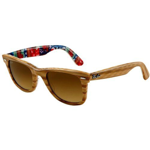ray ban clubmaster amazon  Ray Ban RB2140 Wayfarer Sunglasses-1138/85 Wood/Text Surf (Brown ...
