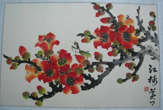 Hey, I found this really awesome Etsy listing at https://www.etsy.com/listing/121900592/original-chinese-painting-blossom-and