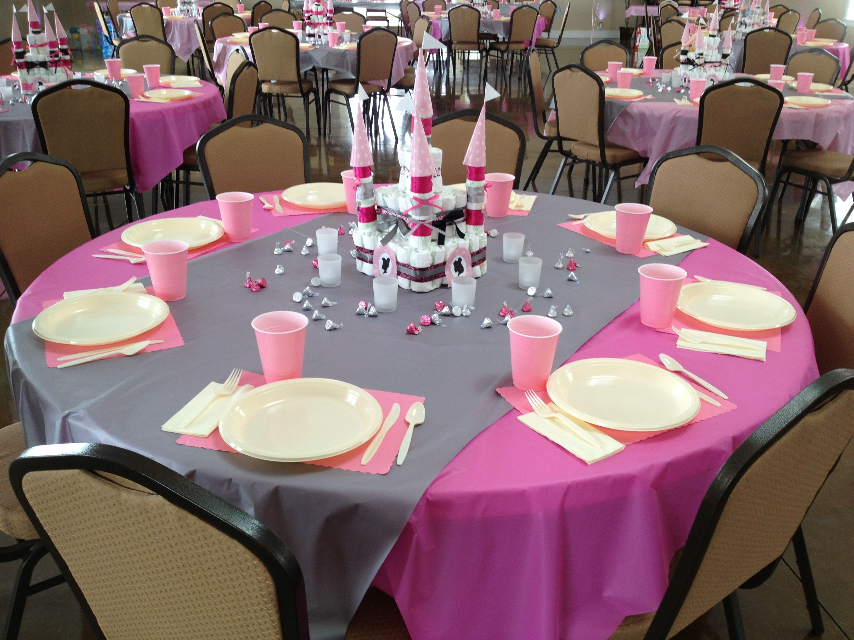 Charming Table Set Up For The Princess Themed Baby Shower