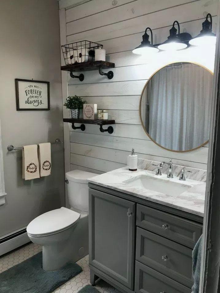 Plus de 38 idées de décoration de salle de bain à la ferme à assortir à n'importe quel modèle de maison 48 - neolyo.com/hem