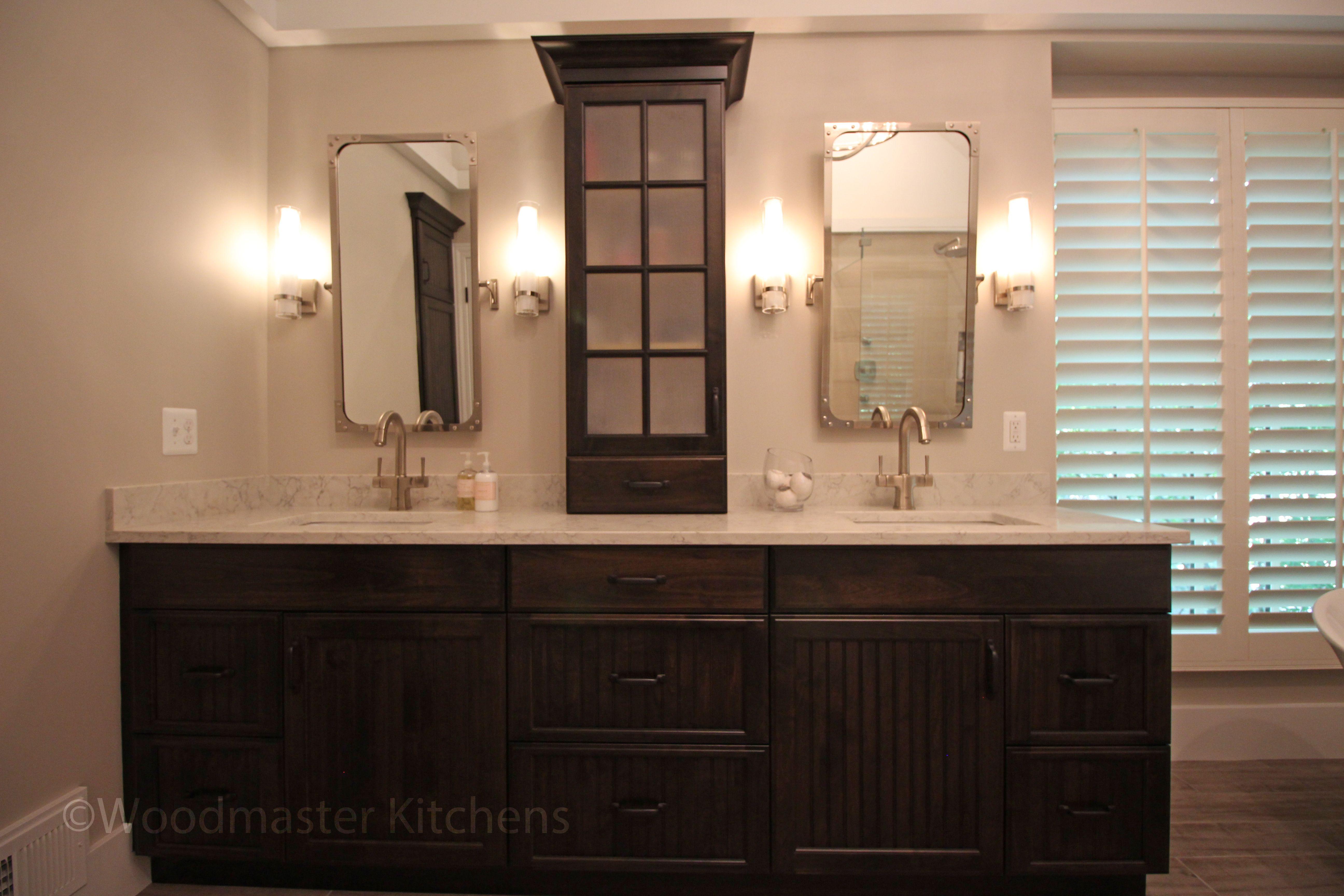 24++ Bathroom cabinets free standing dark wood model