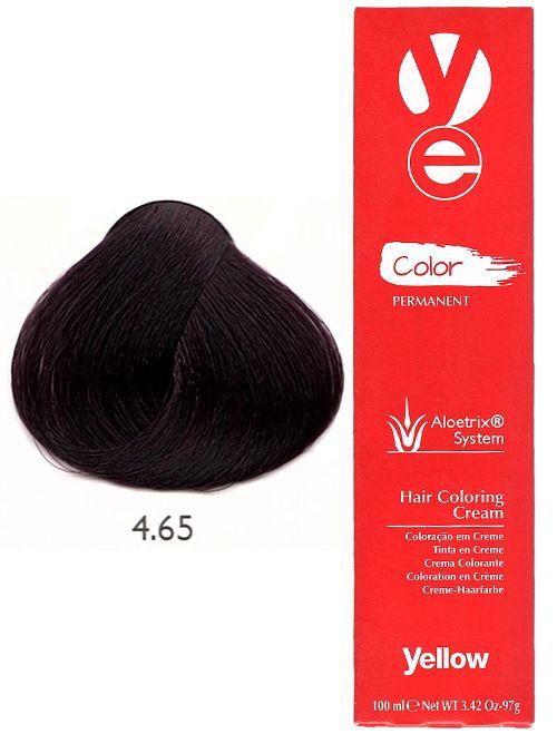 Alfaparf Yellow Hair Color Red Mahogany Brown 465 Yellow Hair