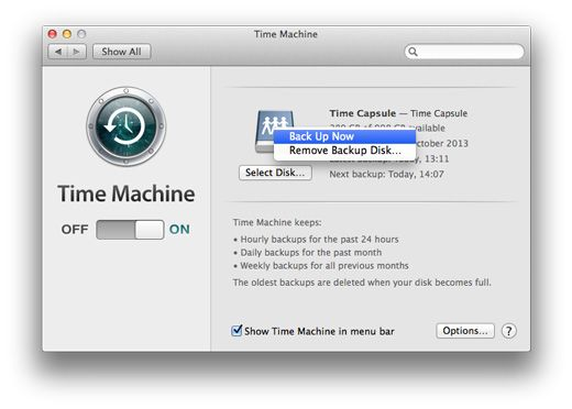 Transfer a Time Machine Backup | Apple, iPads and iOS7