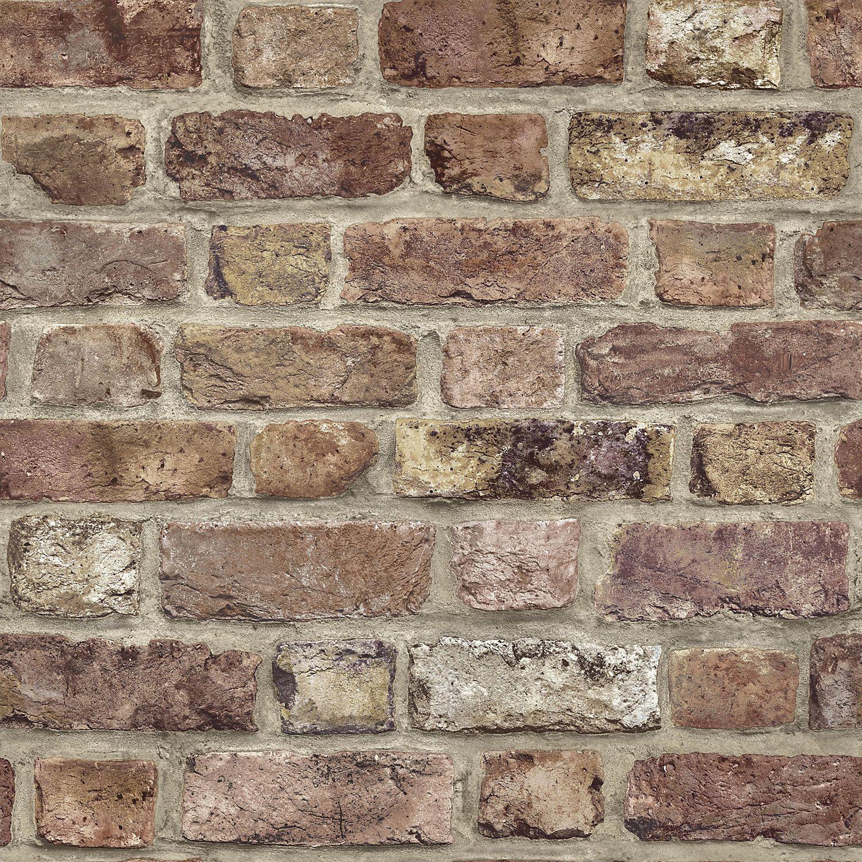 Tanlay Dark red Brick Wallpaper Red brick wallpaper