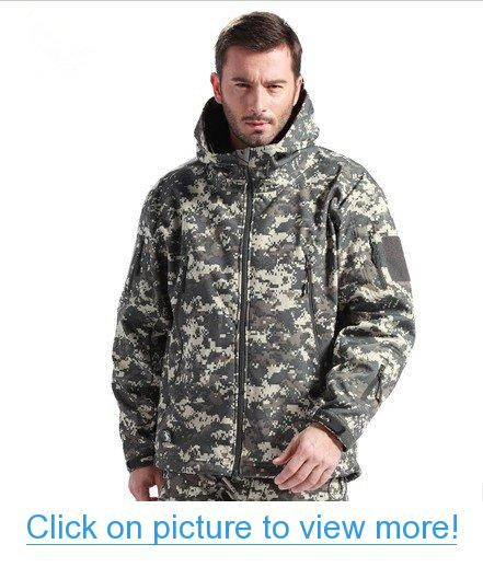 50d89c219a8 Dock Mens Outdoor Tactical Hunting Camping Hiking Wargame Waterproof  Softshell Coats Jacket Hoodie ACU Camo