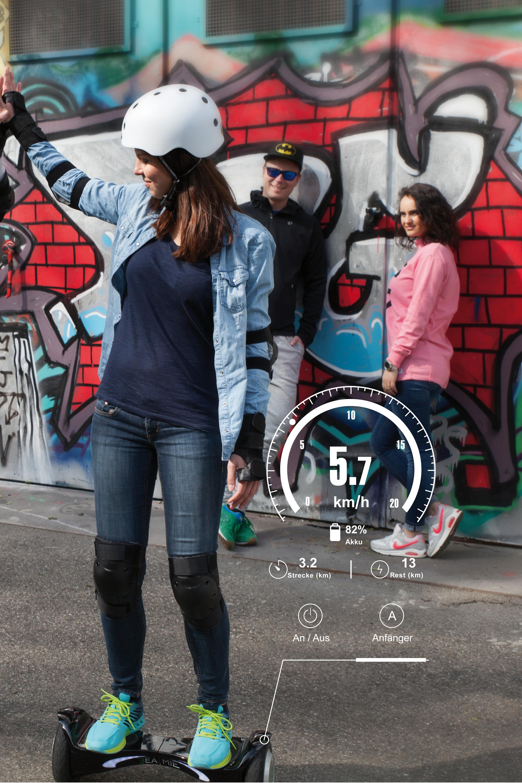 die beamie app zeigt dir wie schnell du mit deinem hoverboard unterwegs bist aber auch die. Black Bedroom Furniture Sets. Home Design Ideas