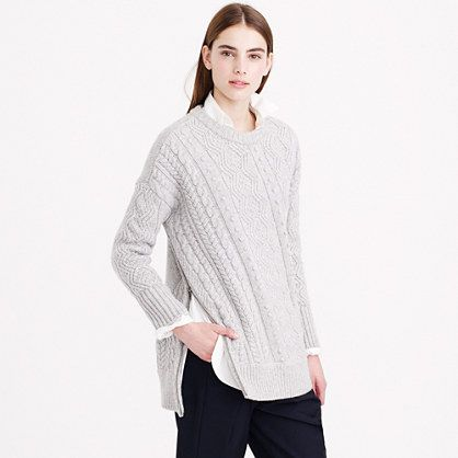 J.Crew - Wool side-zip cable sweater. If your short enough can we ...