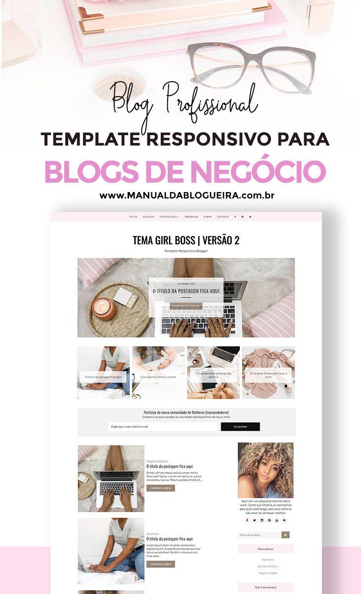 Layout para blog feminino