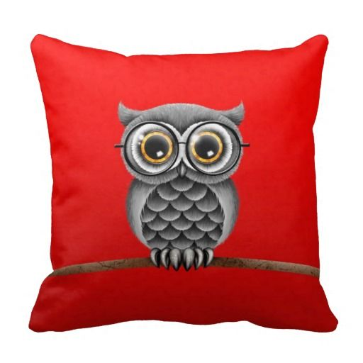 ==> consumer reviews          Cute Fluffy Gray Owl with Glasses, Red Throw Pillows           Cute Fluffy Gray Owl with Glasses, Red Throw Pillows We have the best promotion for you and if you are interested in the related item or need more information reviews from the x customer who are own of...Cleck Hot Deals >>> http://www.zazzle.com/cute_fluffy_gray_owl_with_glasses_red_pillow-189021599116642875?rf=238627982471231924&zbar=1&tc=terrest