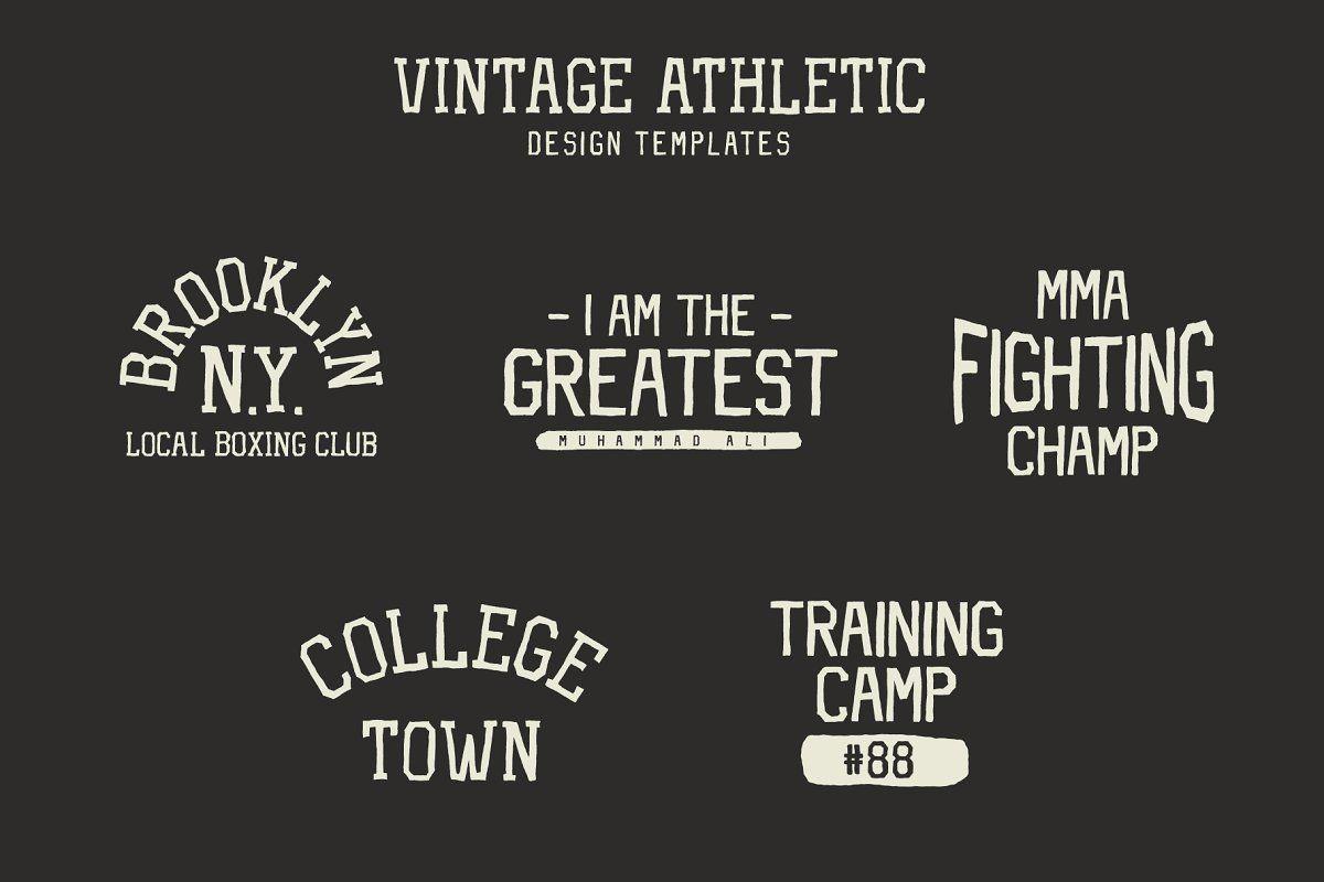 Vintage Athletic Bundle Fonts Logo Bundle Vintage Logo Unique Logo
