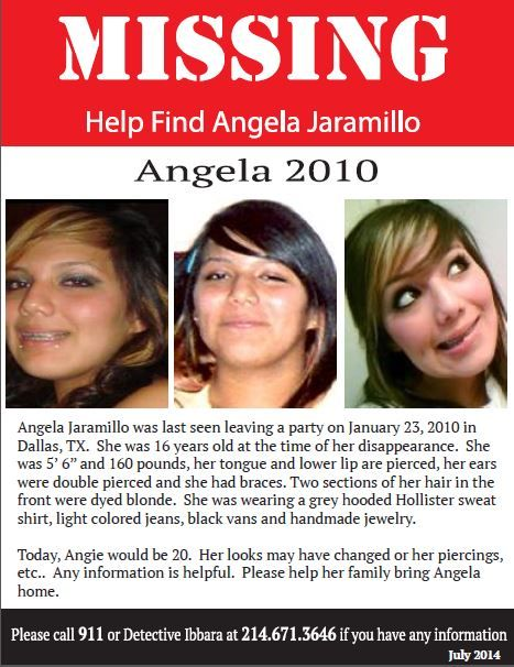 Missing Persons Posters Endearing Missing Persons Poster For Angela Jaramillo  Help Find Angela .