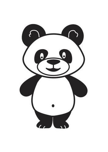panda coloring paper - Google\'da Ara | Kitap Oluşturuyorum | Pinterest
