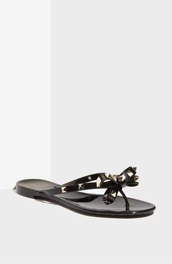 45a14e271e81 Valentino  Rockstud  Thong Sandal available at  Nordstrom Cute Sandals