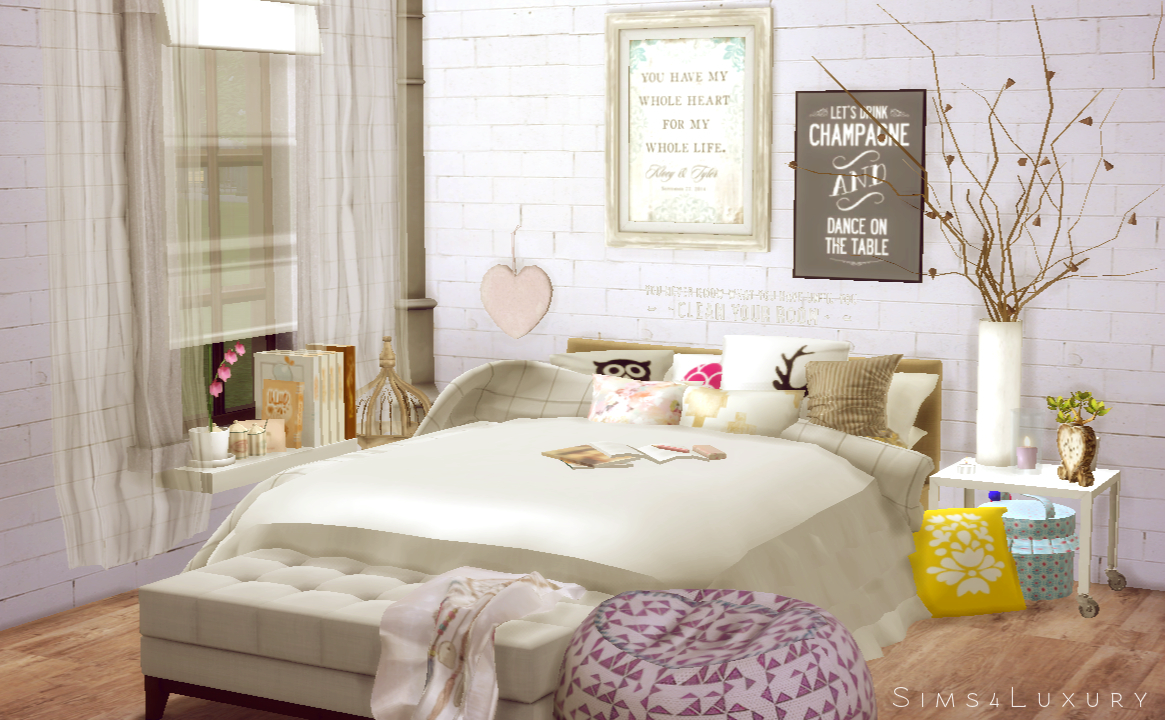 Interior cocooning Part 1 Bedroom Sims4Luxury Sims 4