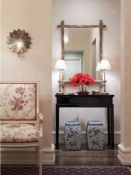 Pretty Asian Foyer Love The Rustic Look Of The Mirror Living
