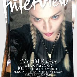 Madonna's Interview September Selfie Cover // See the other celebrity covers: (http://www.racked.com/2015/9/1/9239297/interview-magazine-kim-kardashian-jlo-zayn-malik#4821732)