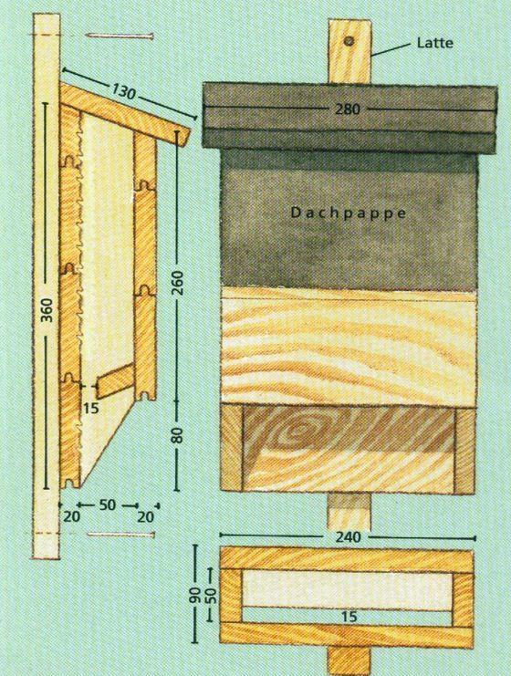 plan pour nichoir pour chauves souris nichoir diy pinterest chauve souris nichoirs et souris. Black Bedroom Furniture Sets. Home Design Ideas
