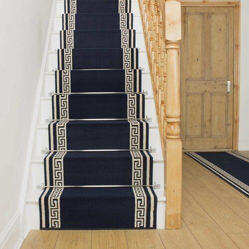 Photo of Teppich Almon in Blau Rosalind Wheeler Teppichgröße: Läufer 70 x 450 cm