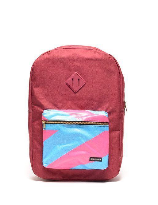Box Backpack - Maroon