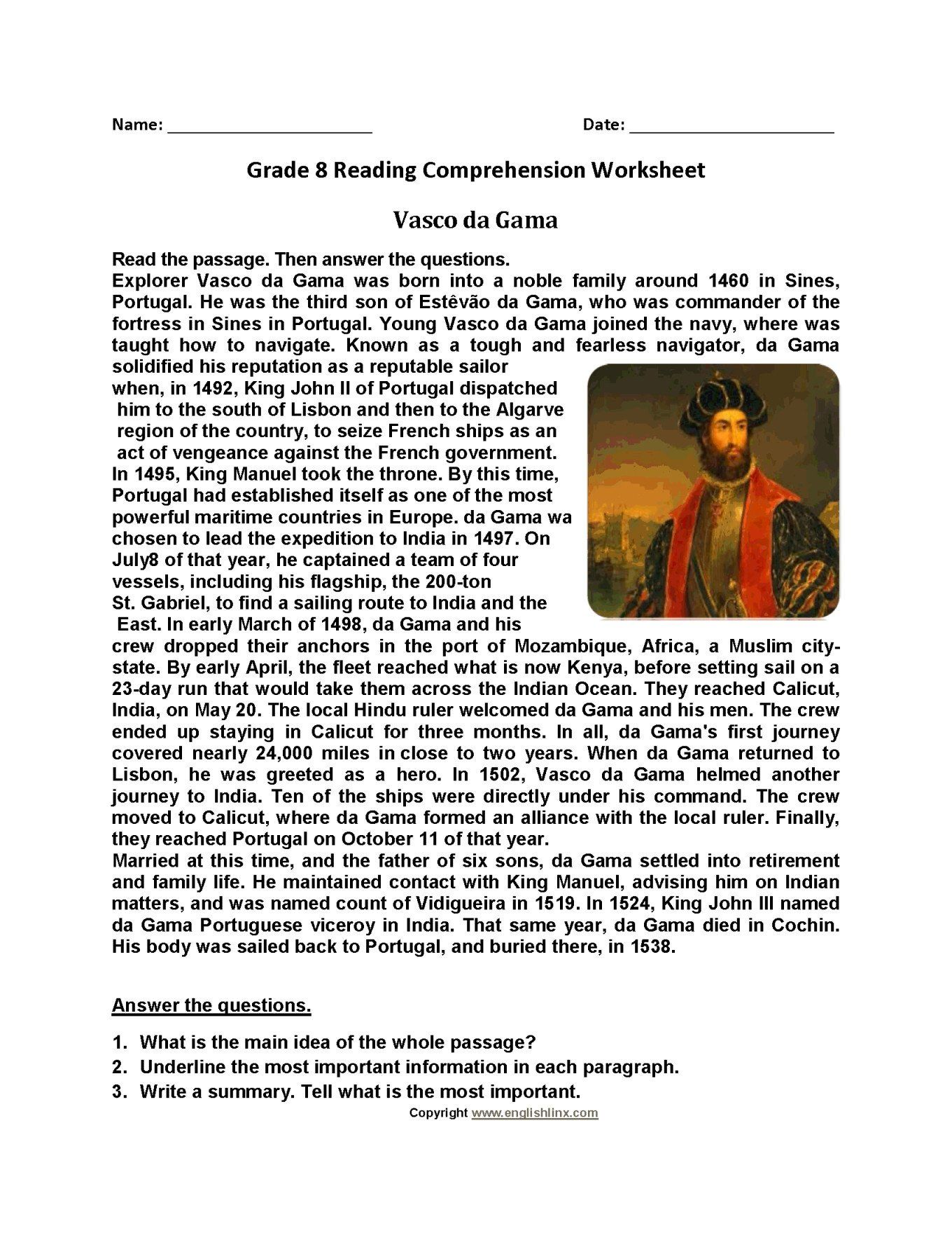 Free Printable French Reading Comprehension Worksheets [ 1760 x 1360 Pixel ]