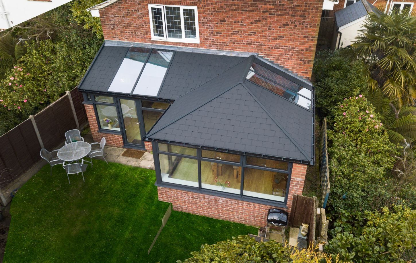 Tiled Conservatory Roof Prices Homeextensions If You Would Like A Price For A Tiled Conse Tiled Conservatory Roof House Extension Design House Extension Plans