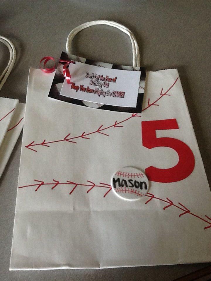 Goody bag for baseball team  aa230b985c2e5