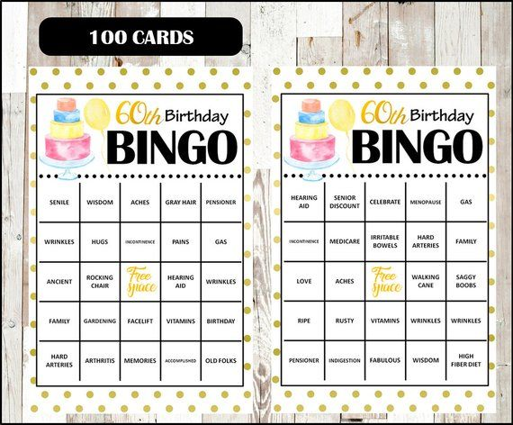 Personalized 50th Birthday Party Bingo Game