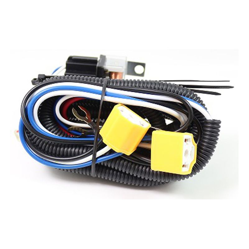 High Quality 12V H4 Fix Dim Light Relay Wiring Harness ... on h4 headlight wiring details, h4 vs 9003 wiring, electrical harness, chevy 2 headlight relay harness, h4 headlight socket wiring diagram, heavy duty headlight harness, automotive wiring harness, h4 plug wiring ground, h4 headlight connector 12 gauge, h4 wiring with diode,
