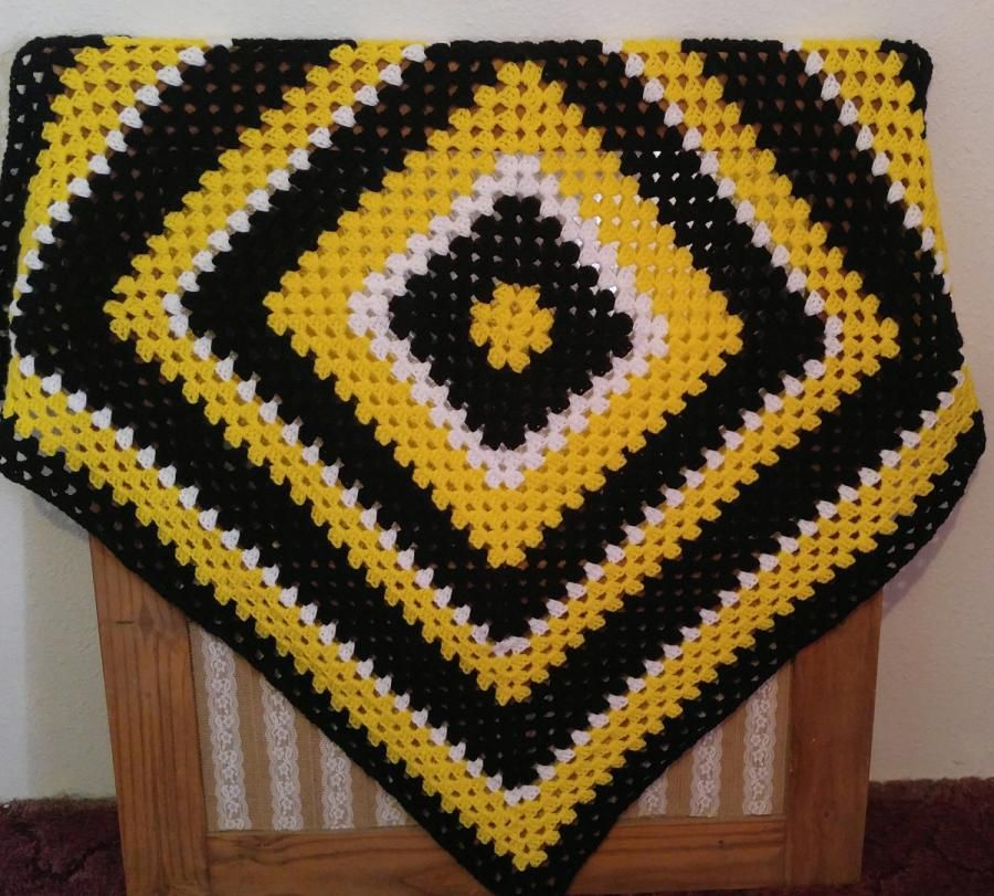 Just A Big Granny Square Pattern Made With A K Size Crochet Hook I