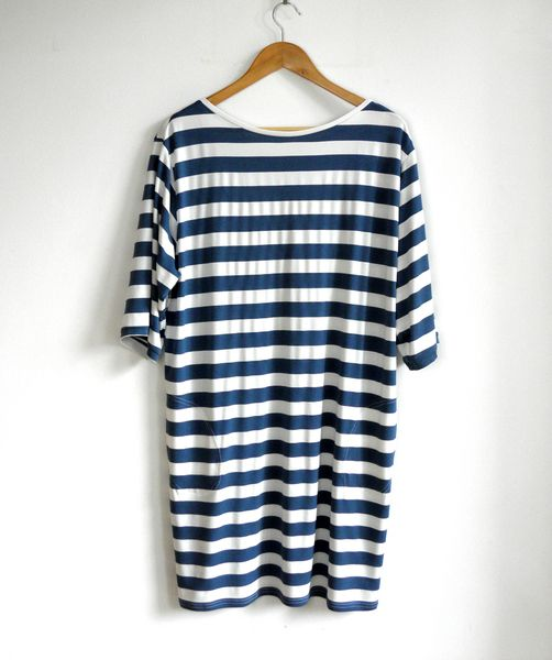 loose fitting blue and white striped jersey dress  from kapotka by DaWanda.com
