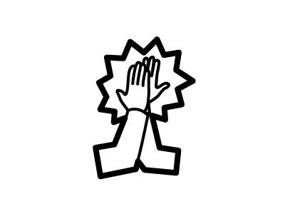 High Five Lettering Design Hand Logo High Five
