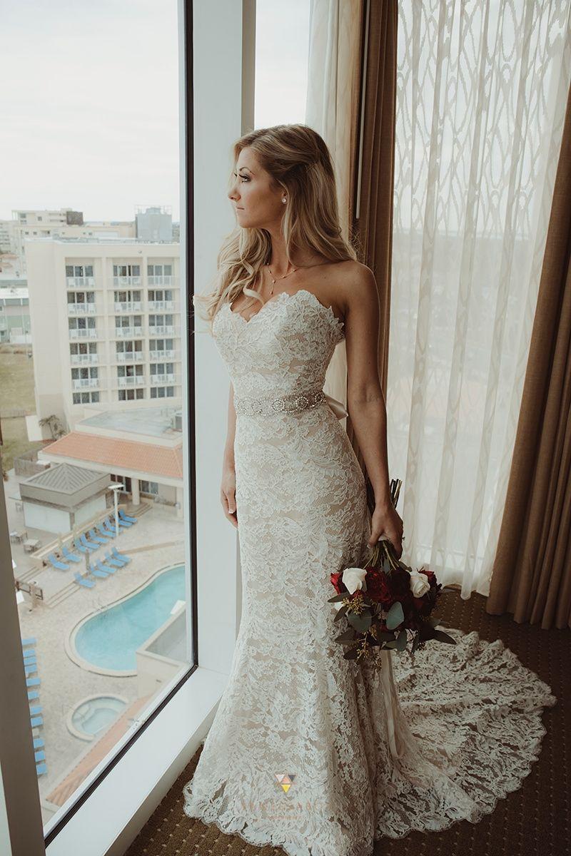 Lace Wedding Dress. Photo by Vanessa Boy Photography.  Lace