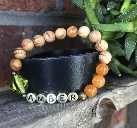 Hello Fall*Custom Beaded Bracelet*Your Word*Initials*Name*Date*Personalized Bracelet*Stretch Bracele #hellofall