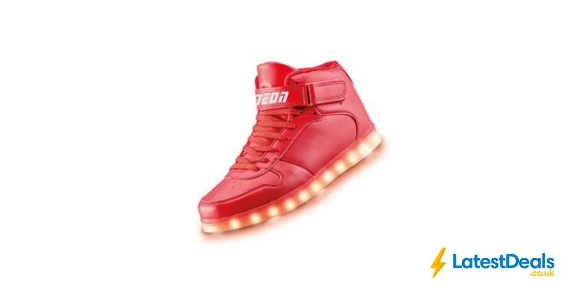 Kids Neon Kyx Red High Top Light up