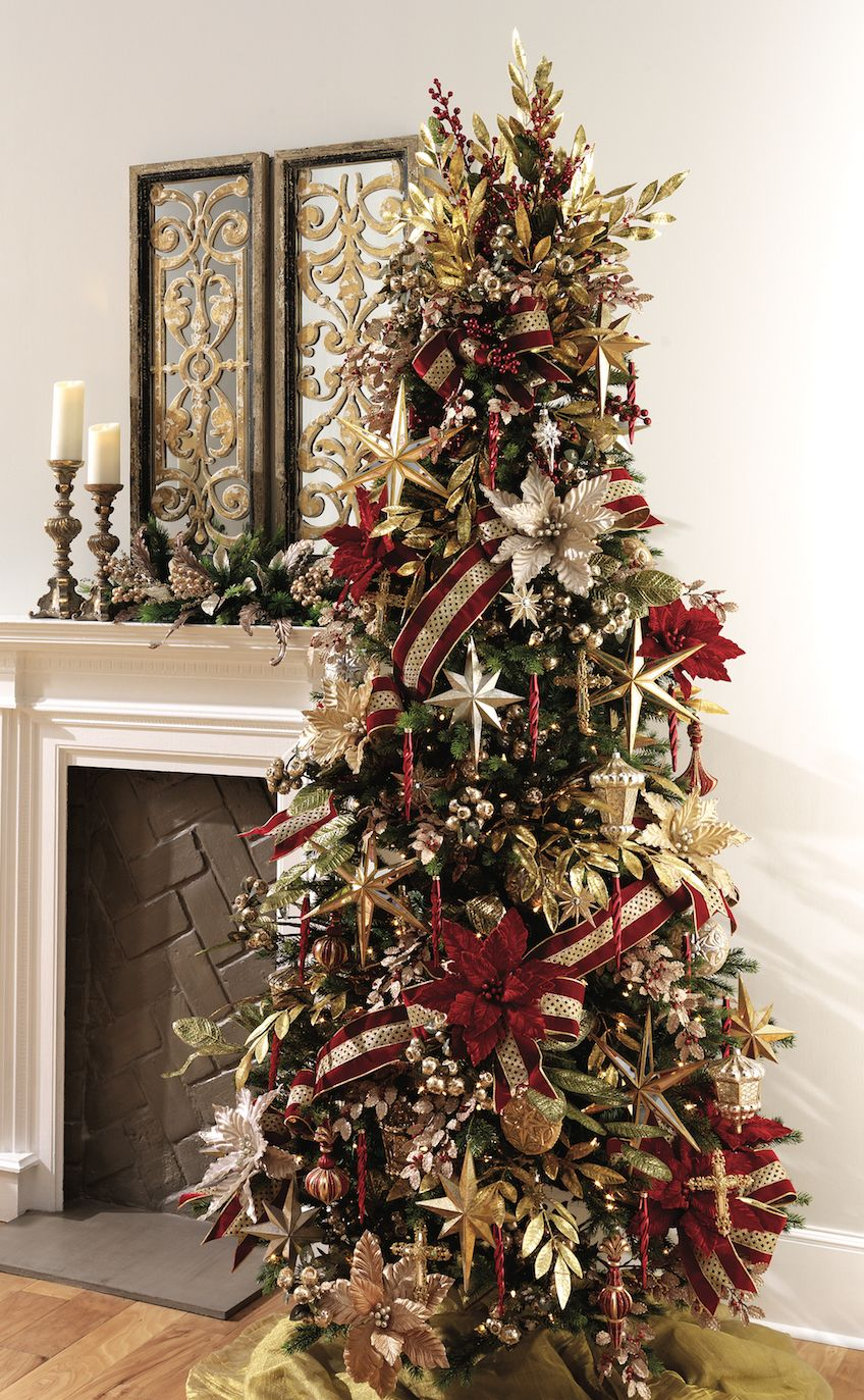 Christmas 365 Days A Year Coming In To Check Out Our 2016 Christmas Inventory Make Sure Cool Christmas Trees Red And Gold Christmas Tree Christmas Tree Design