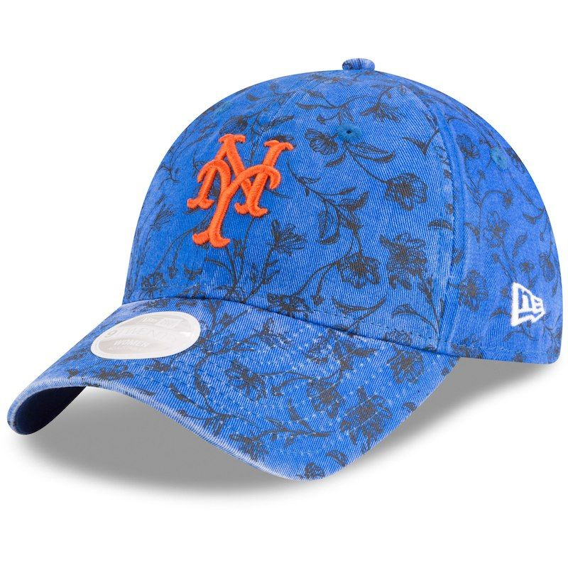 c8e612223 New York Mets New Era Women's Floral Peek 9TWENTY Adjustable Hat ...