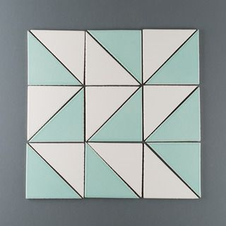 Triangles Introducing 4 New Tile Shapes Fireclay Tile Triangle Tile Pattern Triangle Tiles Geometric Tiles