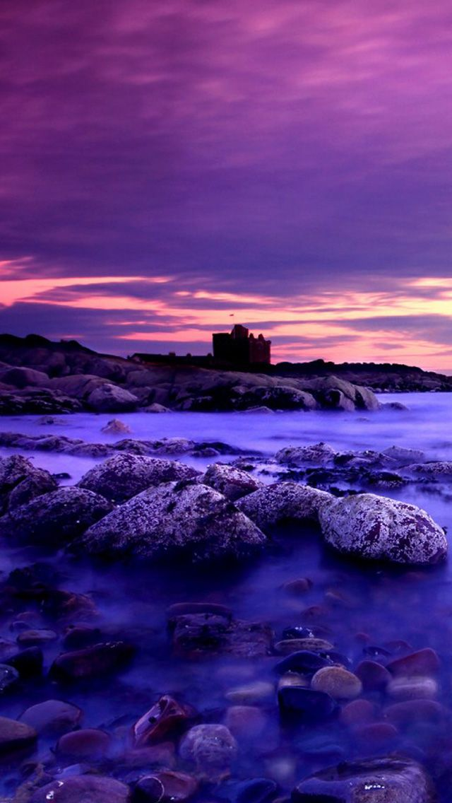 Pretty Purple Sea Landscape Pictures Sky And Clouds Beautiful Landscapes