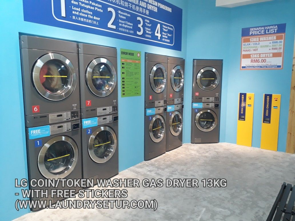 Lg Coin Stack Washer Dryer Self Service Laundry Commercial