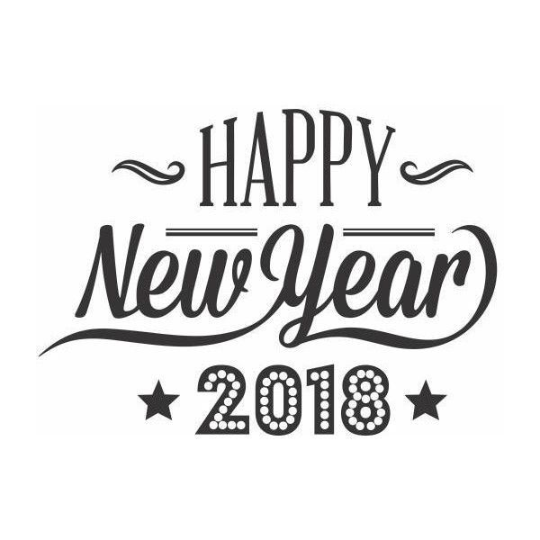 this listing represents happy new year 2018 clip art and it is available to be