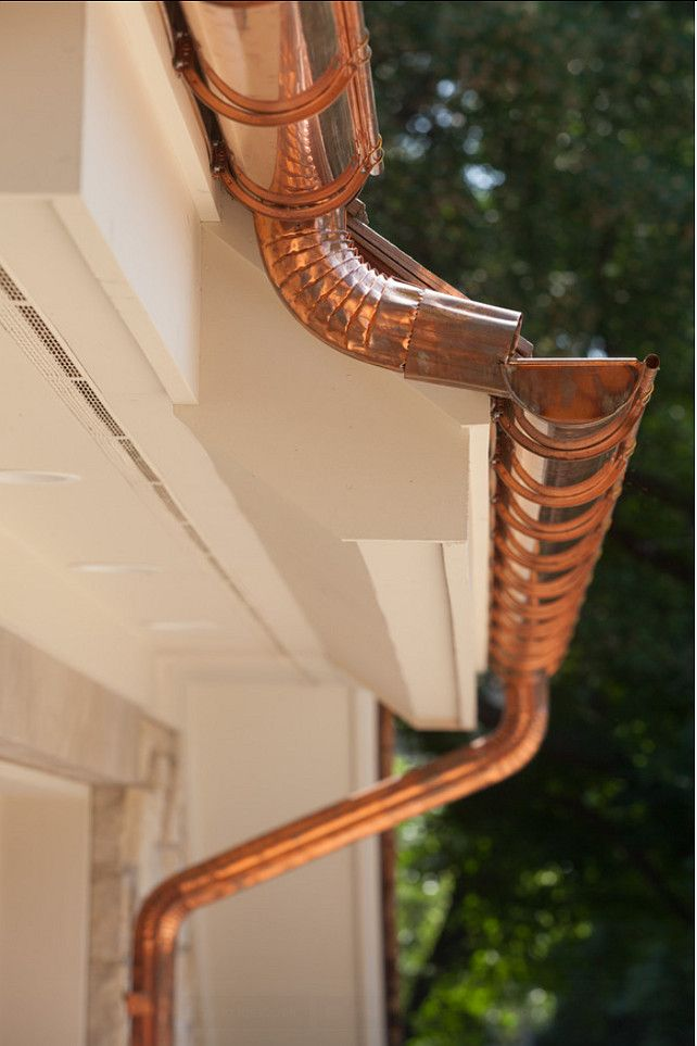 Copper Gutters And Dowspouts Custom Designed Copper Gutters And Dowspouts Copper Gutters Dowspouts Gutters Copper Gutters Traditional House