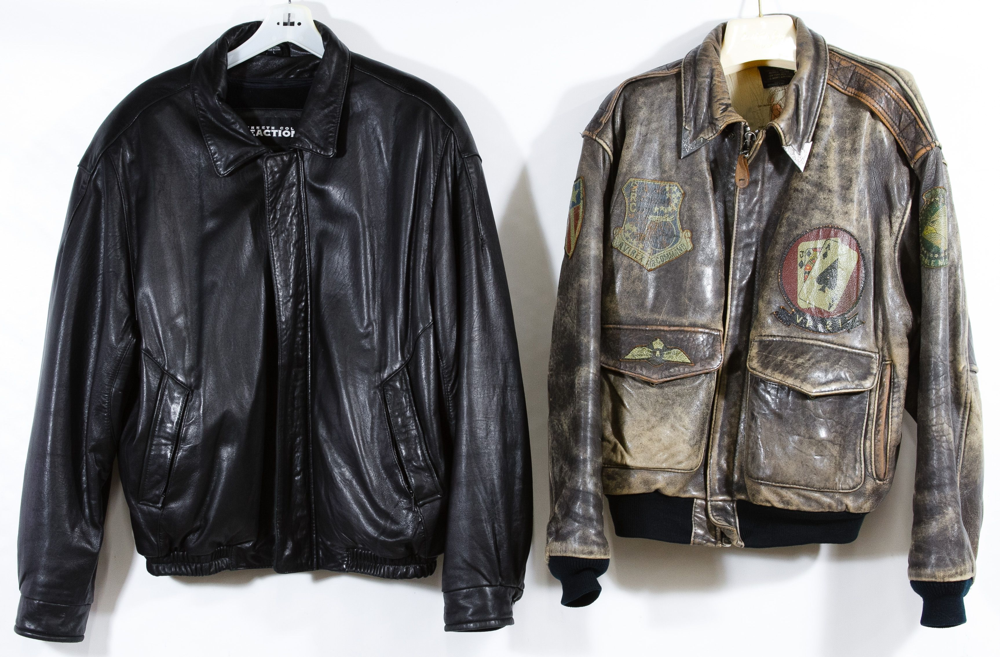 Lot 327 Leather Bomber Jacket Assortment Two Items Including A Large Size 1987 Brown Avirex Old L Leather Bomber Jacket Leather Flight Jacket Leather Bomber [ 2269 x 3453 Pixel ]