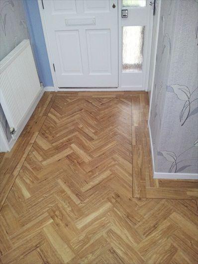 Vinyl Plank Flooring Herringbone Pattern