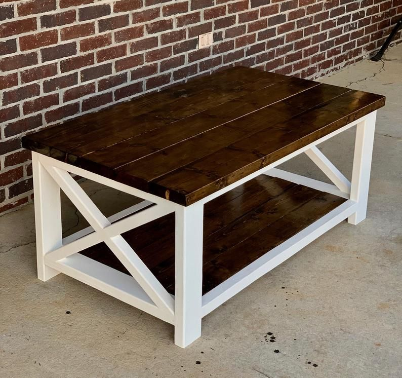 Farmhouse Coffee Table End Table Set In 2020 Coffee Table Farmhouse Coffee Table Coffee Table Plans