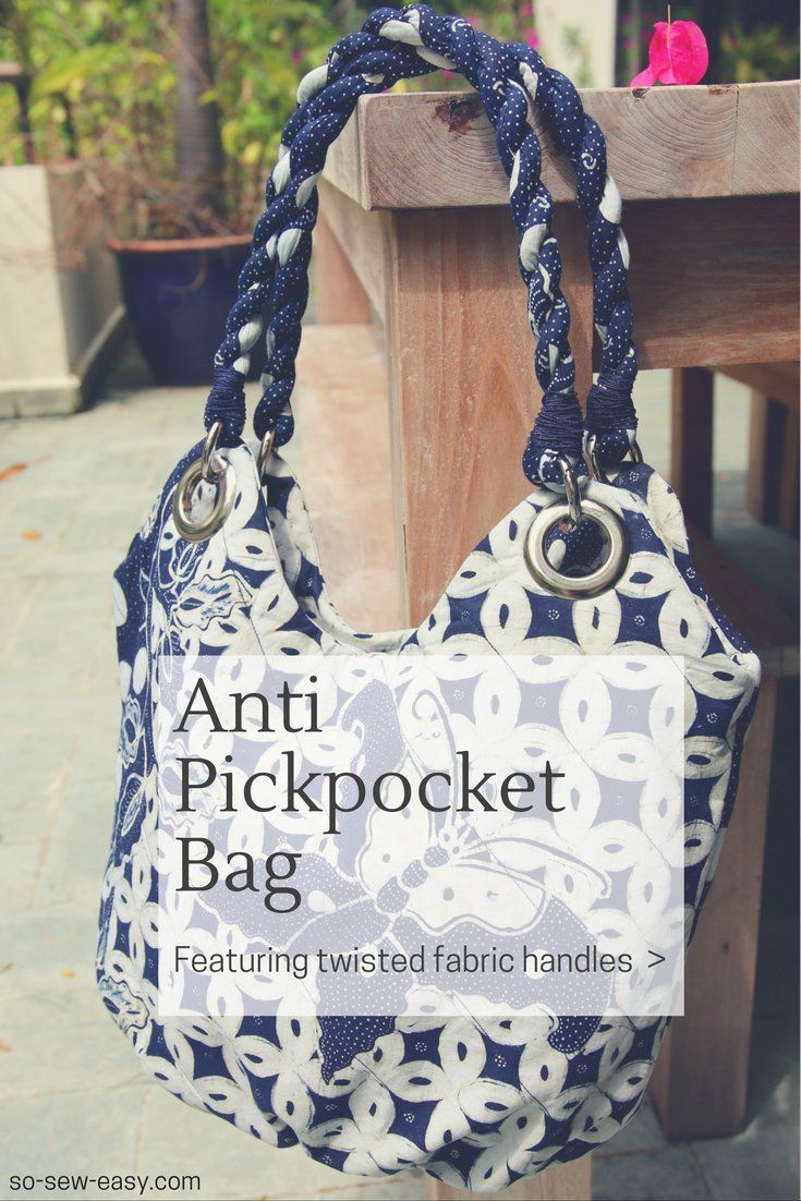 Anti Pickpocket Bag: FREE pattern, tutorial, and video sew-along ...