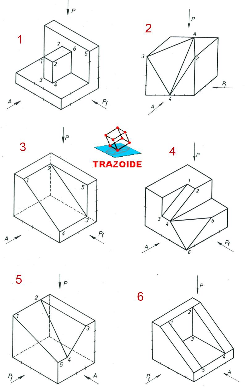 Proyeccion Ortogonal De Las Figuras A Png 800 1 261 Pixels Proyecciones Ortogonales Tecnicas De Dibujo Vistas Dibujo Tecnico