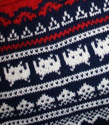 61ada41b8 Space Invaders Sweater Knitting Pattern